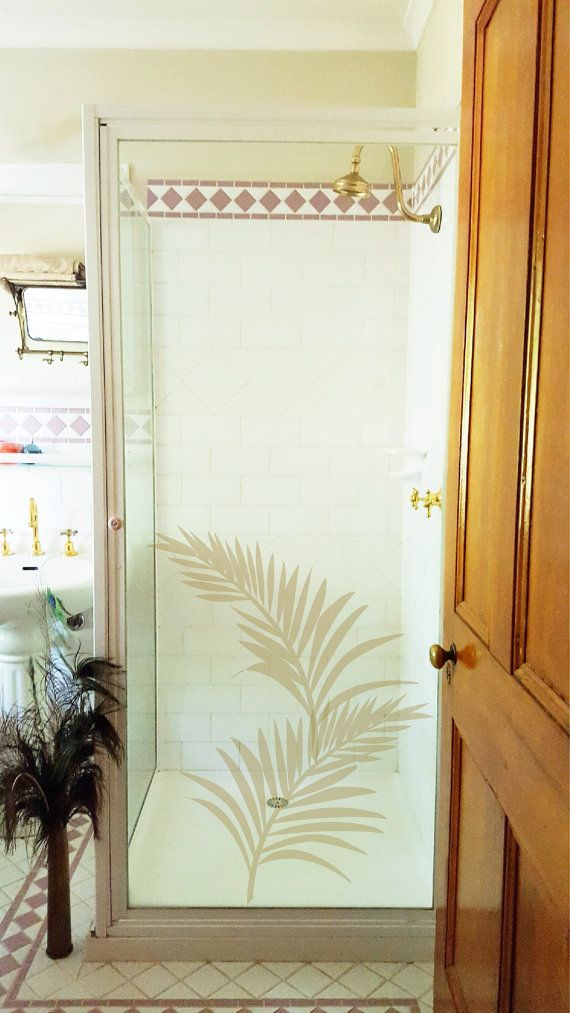 Easy to apply and removable, these vinyl wall decals are sold as single palm fronds, to create your own green space...or copper, or you can