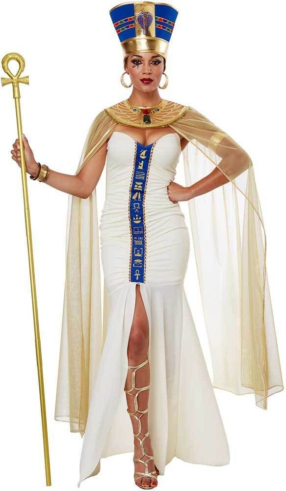 01870723996 Queen Of Egypt Ruler Cleopatra Dress Drapes Egyptian Costume Attire Adult  Women  CaliforniaCostumeCollection