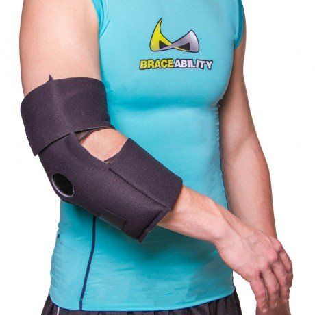 """""""One of the best home remedies for tennis elbow and other sources of elbow pain is simply to apply ice and/or heat to the joint. This elbow wrap for tendonitis with two ice packs for hot or cold therapy simplifies the process. Utilizing an elbow ice wrap and/or an elbow heating pad is a common step for healing tennis elbow and many other injuries."""""""