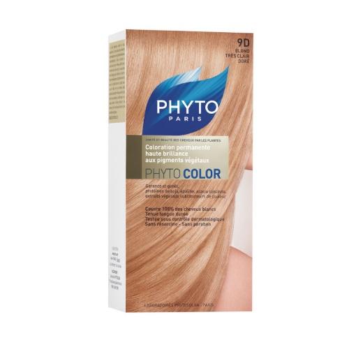 Phyto Phyto Color Tinte Rubio Muy Claro Dorado - 9D Con extractos de plantas tintóreas (de 57 a 61% según el tono)