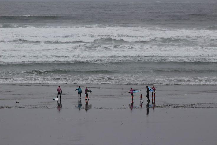Surfers on Cox Bay Tofino