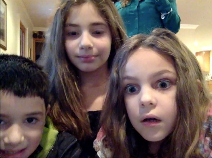 Kids react to Santa caught on tape!