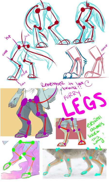 realistic digi leg tutorial - Google Search