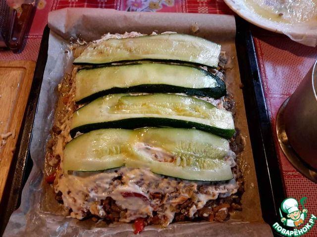 Лазанья из кабачков с фаршем ингредиенты