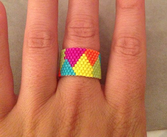Color Block Ring  by ClaireElizabethB on Etsy