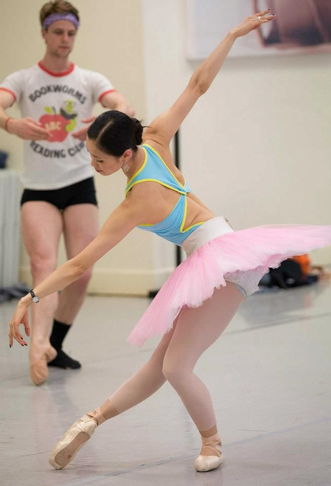 thedailyballet:  Ako Kondo in rehearsal for Etudes.  Photography by Lynette Wills.  ahh she is so beautiful <3 I saw her in manon when i was in brisbane