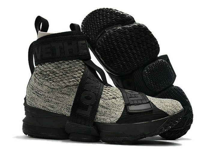 5fb7aeb12cb94 Kith x Nike LeBron 15 Strap Long Live The King Black Grey