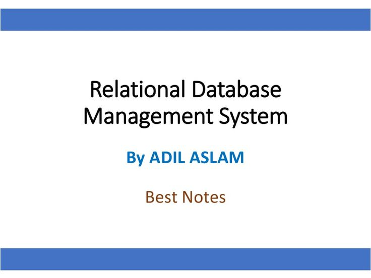 Here is the #SlideShare that precisely explains the relational database management systems (RDBMS), Database design and data normalization  #RDBMS