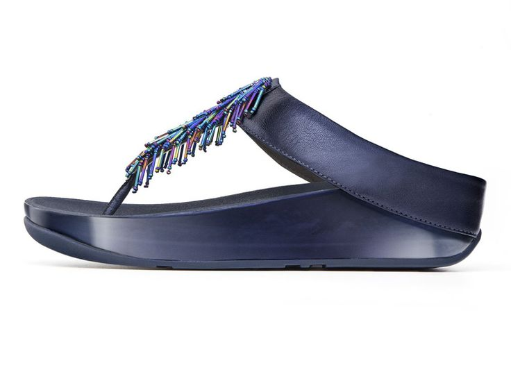 Fitflop CHA CHA Sapphire Womens Slippers Cheap