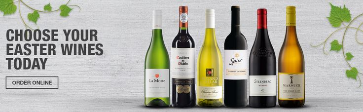 Choose your Easter Wines Today - Order Online