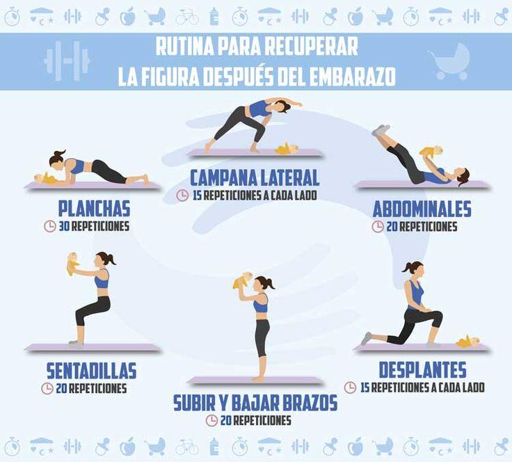 ¿Estás preocupada por recuperar tu peso después del parto? Con esta rutina diaria de ejercicios podrás recuperar la figura después del embarazo.