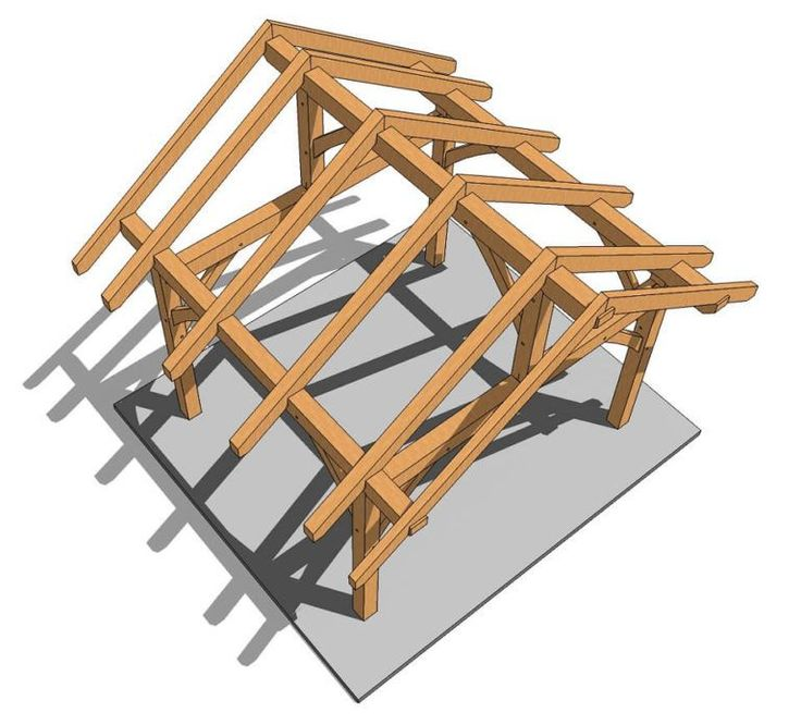 14x14 Post And Beam Plan Timber Frame Hq Outdoorparty