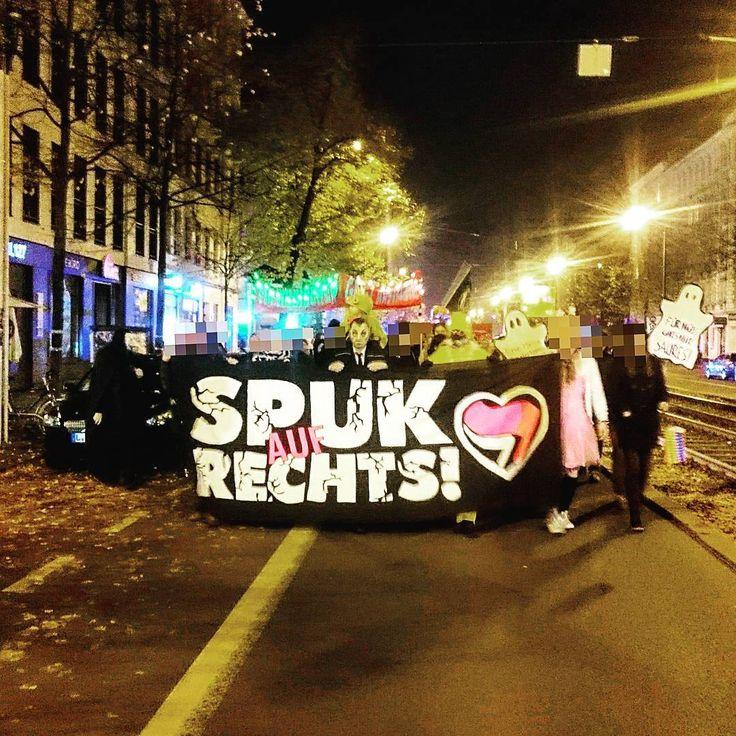 Spuk auf Rechts Demonstration am 31.10.2016 auf der Karl-Liebknecht-Straße Leipzig