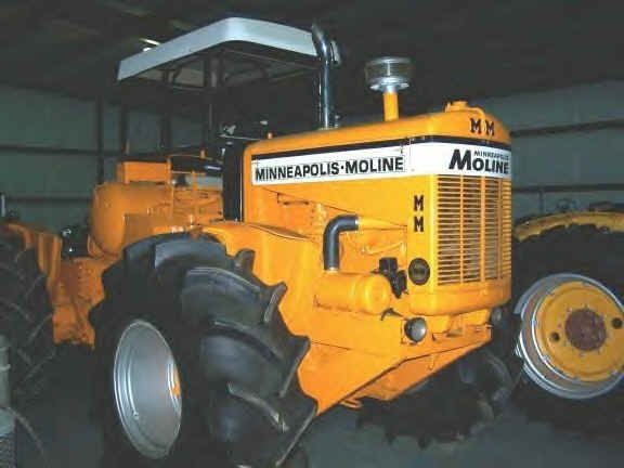 The inspiration for the Minneapoils-Moline/White 4wds came from Don Oliver's Stuttgart  tractor. The Stuttgart tractors were built by Mr. Don Oliver a Minneapolis-Moline dealer in Stuttgart, Arkansas