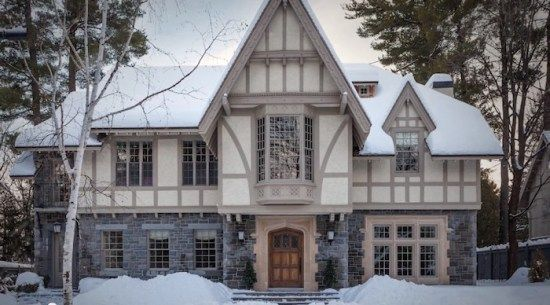 gray english tudor home