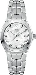 Link 100 M - 32 mm White MOP Diamond dial WBC1312.BA0600 TAG Heuer watch price - TAG Heuer
