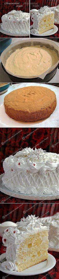 Ананасовый торт .