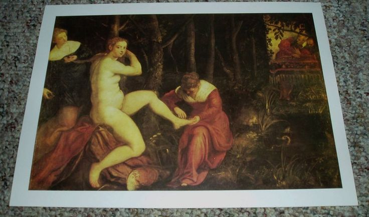 """Art Print Poster """"SUSANNA AND THE ELDERS"""" TINTORETTO #Realism"""