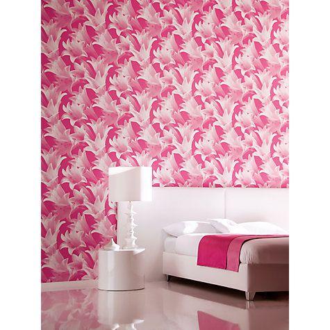 Buy Harlequin Wallpaper, Eternal 30728, Fuchsia Online at johnlewis.com