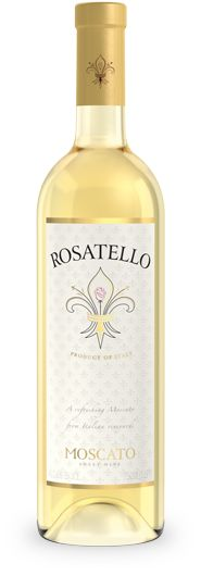 Rosatello Moscato Italian sweet white wine