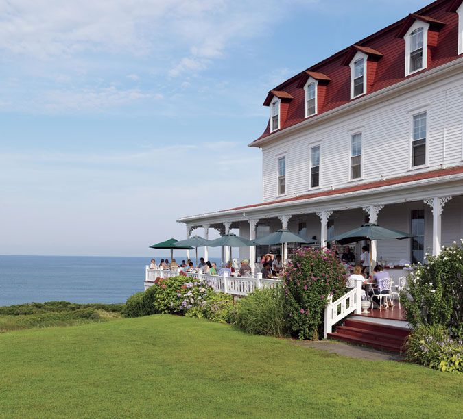 The Spring House Hotel catches salty sea breezes. You won't want to leave Block Island — one of the most beautiful islands in the world for walking, biking, or simply looking out to sea.