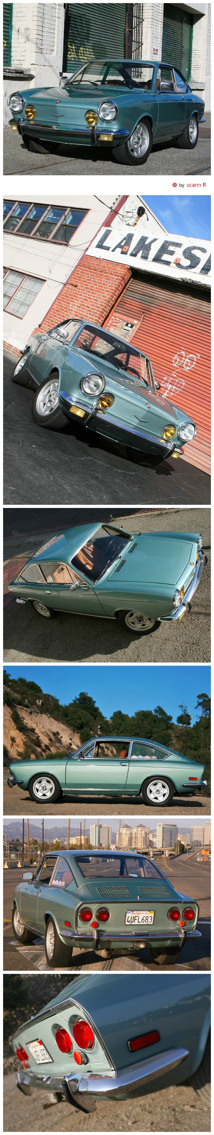 1971 Fiat 850 Sport Coupe (Series II) exterior | Pin made by scann R