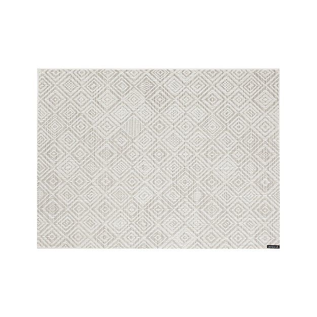 Chilewich ® Mosaic Grey Placemat | Crate and Barrel