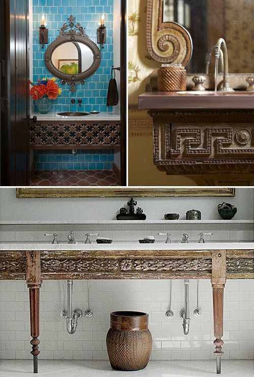 Nomadic Decorator   An Epic Battle for a Creative India pied-à-terre Bathroom   http://nomadicdecorator.com