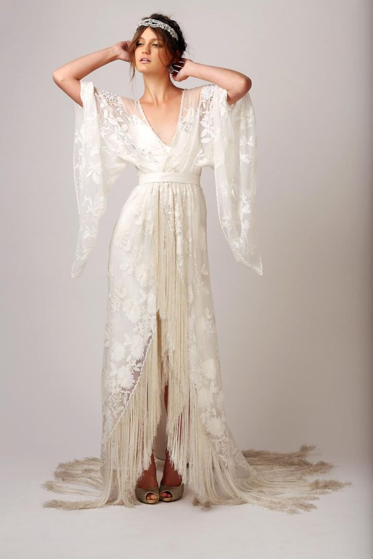 This was found on a Wedding Dress Pinterest page but it wants to live on my Bohemian page :-) Babushka - cleo dress