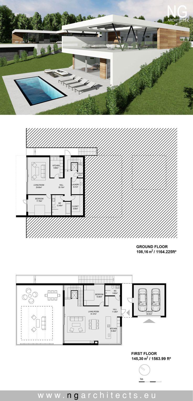 284 best Villa images on Pinterest | Modern homes, Modern houses ...