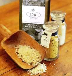 A reviving & spirit lifting blend of sea salt & magnesium, botanicals & essential oils. Use two heaped tablespoons under hot running water and relax.  Ingredients: Magnesium Sulphate (Epsom Salts), Sodium Bicarbonate, Rock Salt and Skin Softening Natural Sea Salt, Botanicals, Pure Essential Oils  #Natural #handmade #bath #salts #Melbourne #Australia #Estaustralia Est Australia   http://www.estaustralia.com
