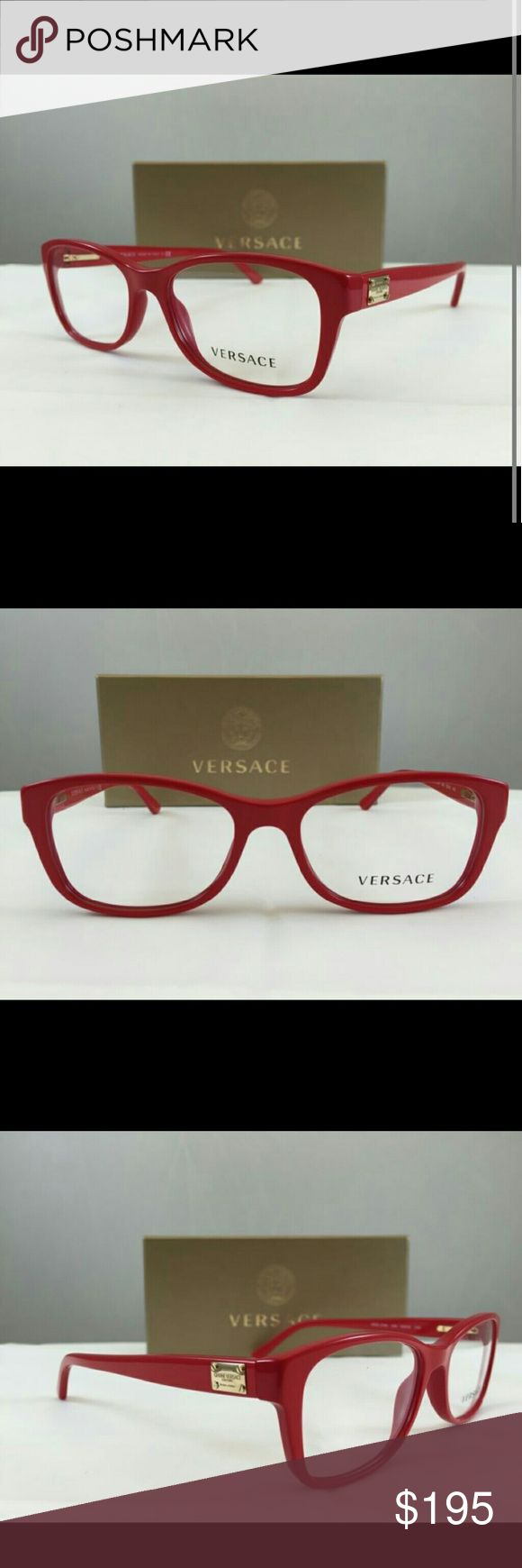 Versace Eyeglasses New and authentic  Versace Eyeglasses  Red frames  Size 54mm Includes original case Versace  Accessories Glasses