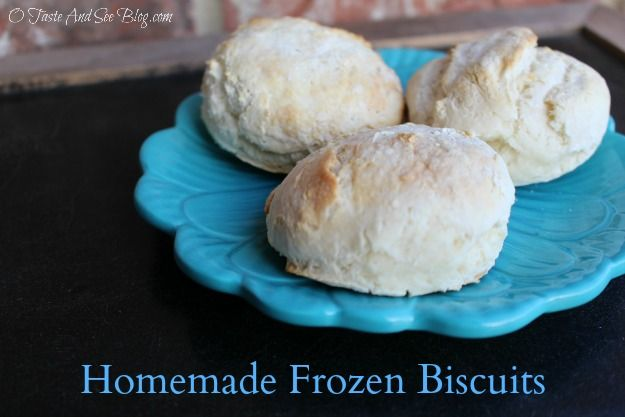 Have the great taste of Homemade Biscuits with the convenience of store bought with this Homemade Frozen Biscuits recipe. Fresh baked, light and fluffy