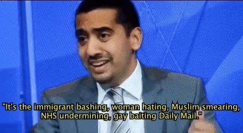 "Mehdi Hasan was on Question Time last night. He was asked what he thought of DM vs Miliband. Who does he think hates Britain more? | Must-Watch: Mehdi Hasan's Ferocious ""Question Time"" Rant About The Daily Mail"