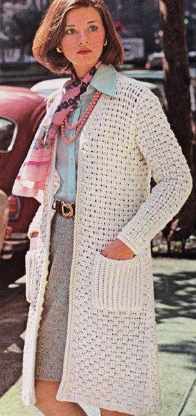 Vintage Crochet Pattern Woman's Woven jacket by LittleGalsStudio, $2.50