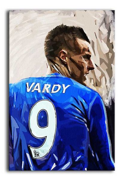 Jamie Vardy of Leicester City FC Print – pop art designed by Canvas Art Rocks