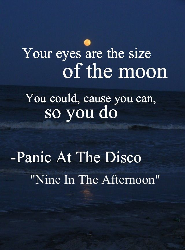 http://www.youtube.com/watch?v=yCto3PCn8wo Nine in the Afternoon   Panic! at the Disco It's a fun song to sing, but you can also find a deeper meaning to the lyrics when you really read them.