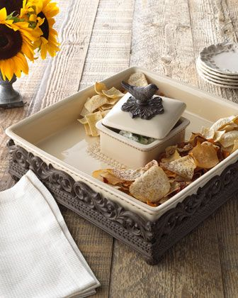"""GG Collection """"House Finch"""" Chip and Dip - Neiman Marcus"""