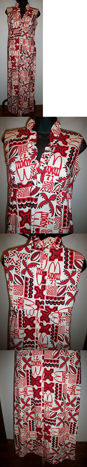Halloween Costumes Women: Vintage Mcdonalds Employee Uniform Hawaii Dress New Size 10 Halloween Costume BUY IT NOW ONLY: $99.0