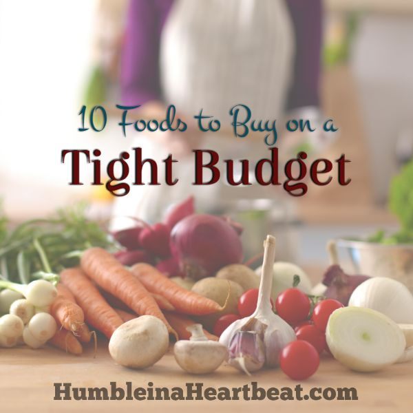 These 10 foods to buy on a tight budget can help you make meals fit for a king! There are over 100 possibilities for meals using these 10 pantry staples.