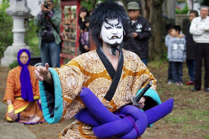 09 Akita Hachirogata town Gannin Dance Japan 2015 2015年5月5日 八郎潟町 一日市神社 大人願人踊り