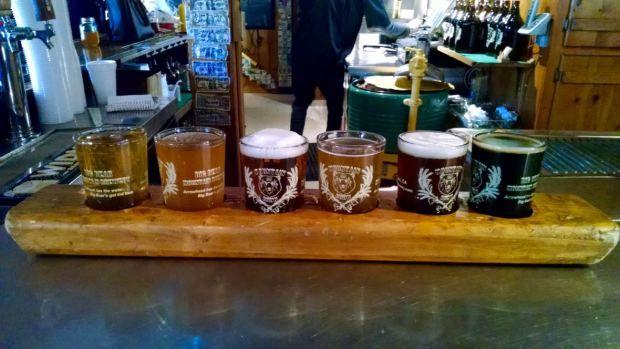 Big Bear Mountain Brewery Beer Flight