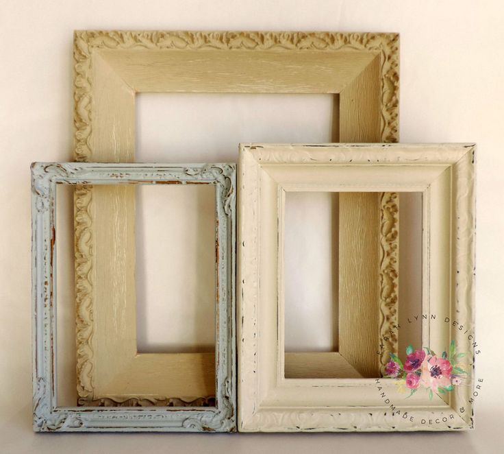 Collage frames, Vintage frames, Wall art frames, Shabby chic frames, Cottage chic frames, Vintage wedding frames, Shabby chic nursery by FarahLynnEvents on Etsy