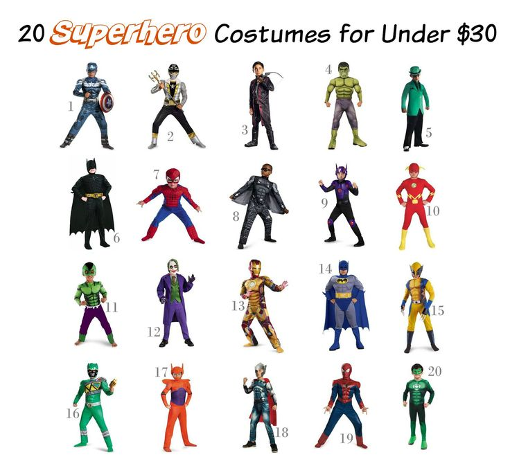 20 Superhero Costumes for Under $30 - Avengers, Batman, and more!