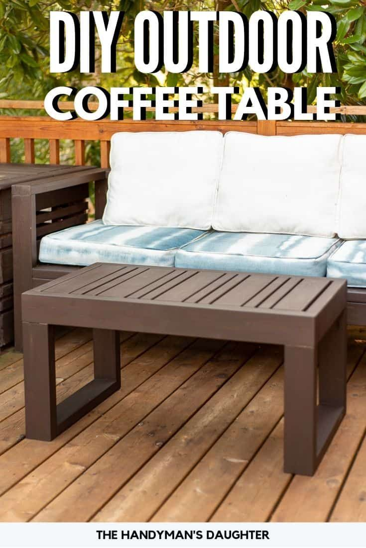 Easy Diy Outdoor Coffee Table With Free Plans Outdoor Wood