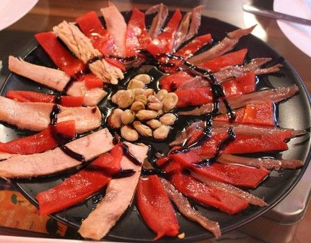 Valladolid, in Castilla y Leon, Spain, visit for art, architecture and food  and  wine - like this anchovy and red pepper tapas