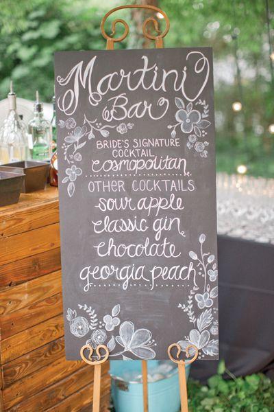 martini bar signage | Harwell Photography #wedding