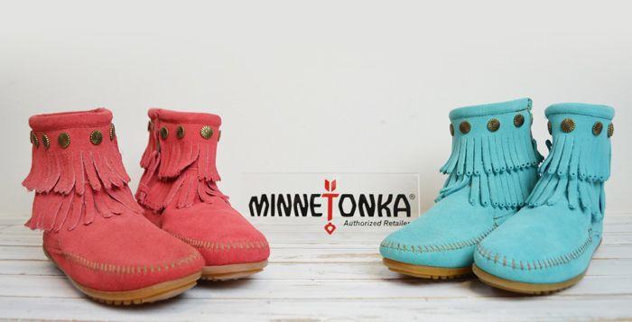 レディース ミネトンカ。ミネトンカ/MINNETONKA ブーツ [DOUBLE FRINGE SIDE ZIP BOOT #694S #698S] ダブルフリンジサイドジップブーツ スウェードブーツ ショートブーツ