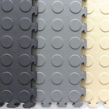 Norsk Raised Coin Pvc Multi Purpose Interlocking Tiles