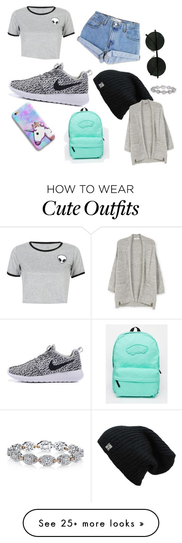 """""""Outfit day"""" by vickidure on Polyvore featuring WithChic, Levi's, Harry Kotlar, Vans and MANGO"""